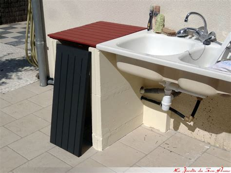 evier de jardin exterieur conception d un meuble sous 233 vier d ext 233 rieur le jardin