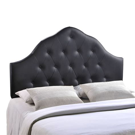 black faux leather headboard queen sovereign french inspired button tufted queen faux leather