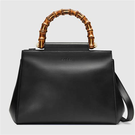 Gucci Positano Medium Top Handle Bag In Black by Gucci Nymphaea And Lilith Bag Reference Guide Spotted