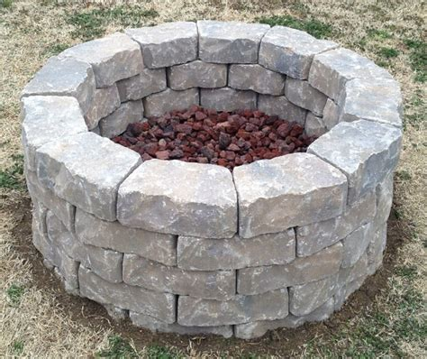 backyard fire pit built in three hours used 60 11 quot x4
