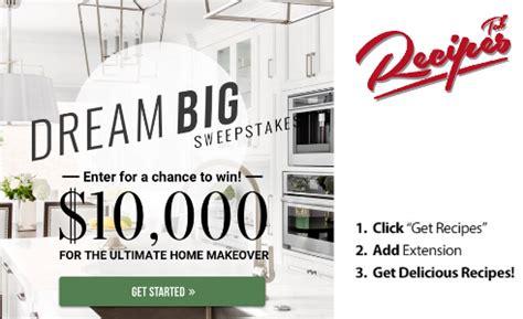 Dream Home Makeover Sweepstakes - dream big home makeover sweepstakes win 10 000 cash