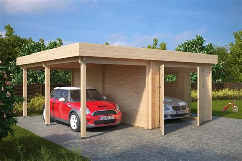Garage With Carport by Garage And Carport Combination Type H 44mm 6 X 6 M