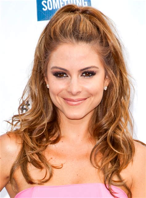 half up half down hairstyles for long faces maria menounos half updo hairstyles half updo and long