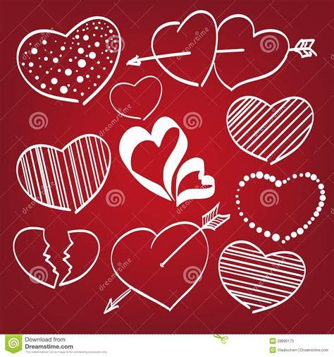 doodle poll across time zones corazones doodle fijados fotos de archivo imagen