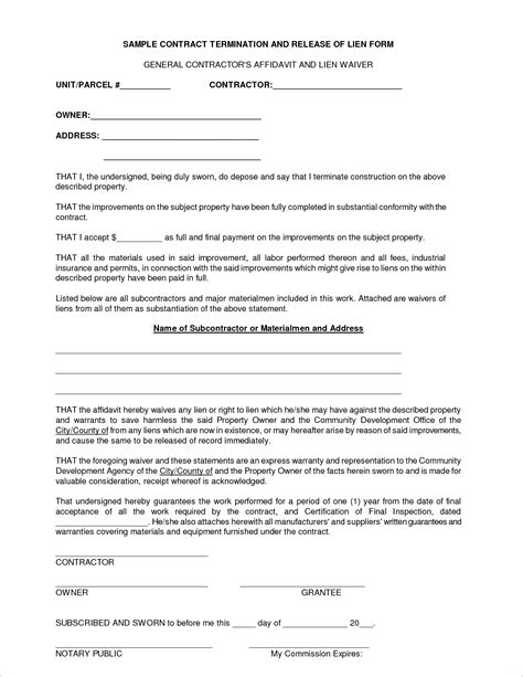 template for contractor agreement 6 general contractor contract templatereport template