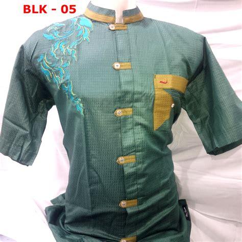 Jas Koko Hijau Tua Limited jual baju muslim pria terbaru model 2016