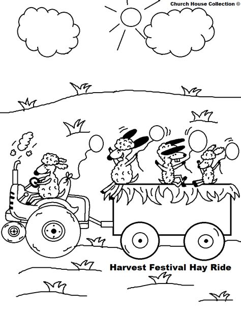 autumn coloring pages for sunday school church house collection blog harvest festival hay ride