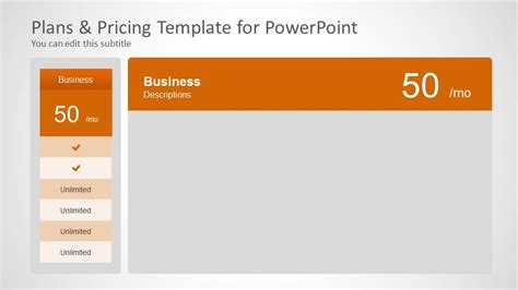 pricing plan template stock photos pricing plan template stock plans pricing template for powerpoint slidemodel