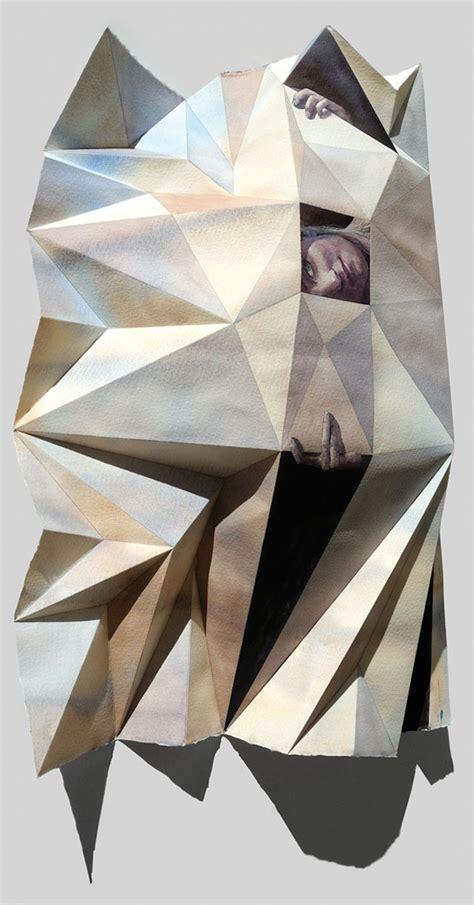 Folded Paper Painting - impressive folded paintings 20 fubiz media