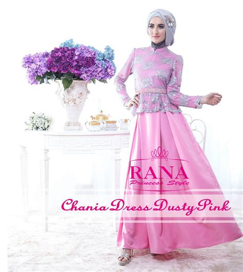Model Terbaru Murah Kode 5027 Pink Best Seller chania dress d pink by rana baju muslim gamis modern