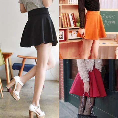 Rok Panjang Skirt rok mini wanita high waist skirt all size black jakartanotebook