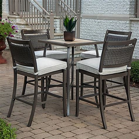 Agio Patio Dining Set Agio Maddox 5 Outdoor High Dining Set Bed Bath Beyond