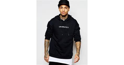 Hoodie Underated With Back Print Hitam Underated Hoodie With Back Print In Black For Lyst