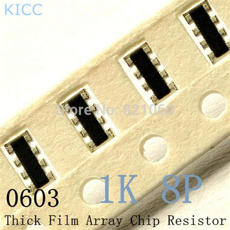 resistor smd 10 ohm 0603 smd thick array chip resistor 1k ohm 1 10w 1k 8p