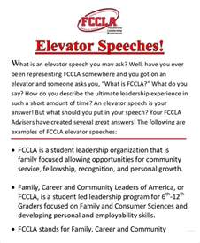 elevator speech examples 9 free word pdf documents