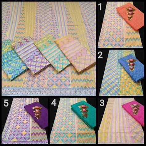 1 Set Kain Batik Print Prada Dan Embos 2 kain batik pekalongan batik soft kombinasi kain embos