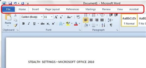 word ribbon layout work in microsoft office 2010 without mouse office