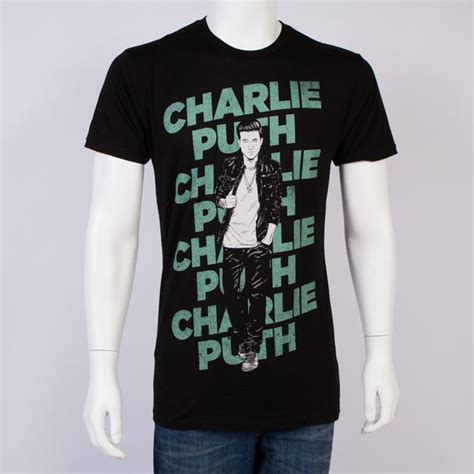 charlie puth merchandise charlie puth layered slim fit t shirt