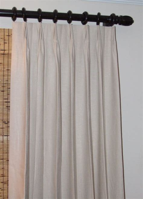 lined pinch pleated drapes beige linen blend small pinch pleat drapes fully lined