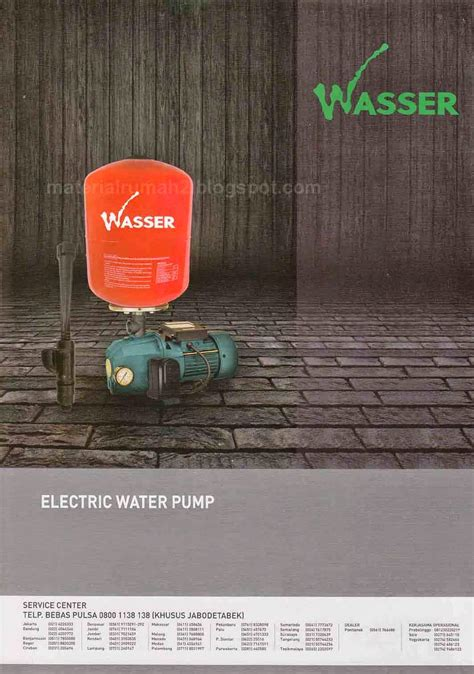 Pompa Air Wasser Pw 251 Ea pompa air wasser electric water rumah material