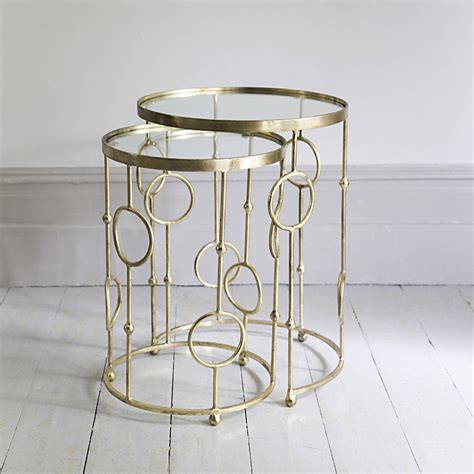 chiswick glass top nesting tables by atkin and thyme   notonthehighstreet.com