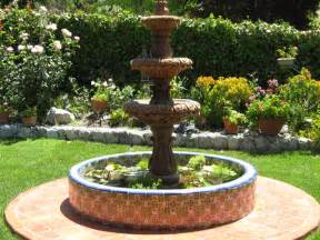 Fountains For Home Decor by Mexican Tile Around A Pond And Stone Fountain Home Decor