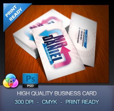hp templates for business cards developer business card template psd file free