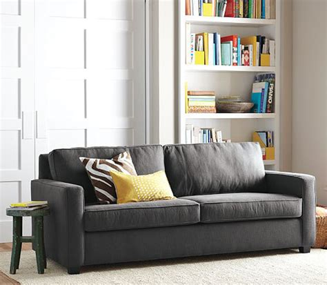 black white yellow henry sofa from west elm