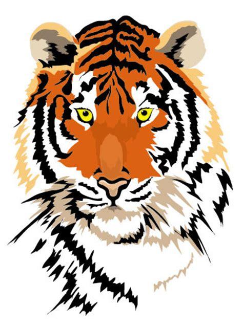 harimau kepala logo lukisan vektor hewan vektor gratis gratis
