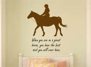 Wall Decals For Teenage Girls Bedroom Horse Decal Horse Rider Wall Words Quote Word Art Teen