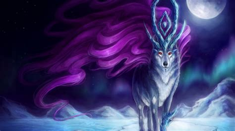 wallpaper holy keeper suicune pokemon moon artwork hd