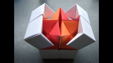 origami action origami double star flexicube david brill tutorial dutchpapergirl youtube