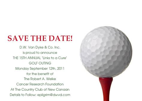 Save The Date 15th Annual Quot Links To A Cure Quot Golf Outing Online Invitations Cards By Pingg Com Golf Tournament Save The Date Template