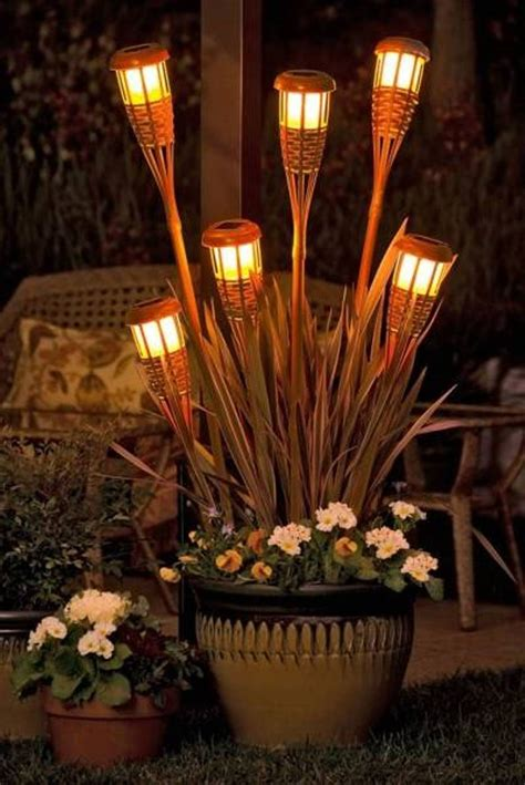backyard torches lanterns 27 ideas for decorating patio with lighting fixtures