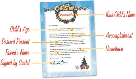 printable personalized letters from santa free letters from santa free personalized printable
