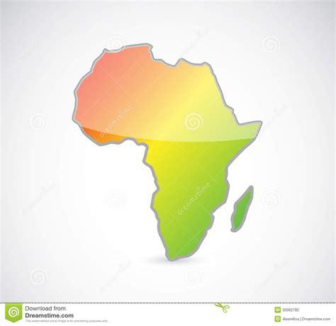 africa map design africa map outline illustration design stock photography