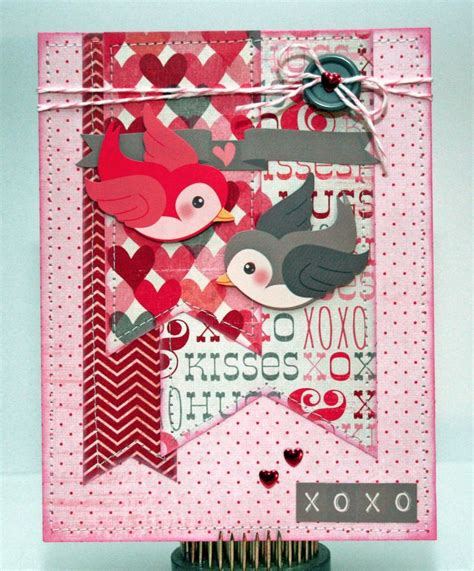 valentines scrapbook xoxo card scrapbook cards