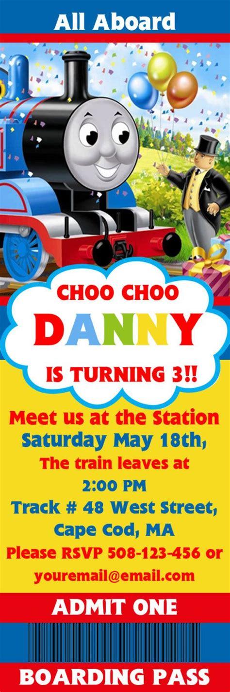 printable birthday invitations thomas the tank engine thomas the tank train engine ticket boarding pass