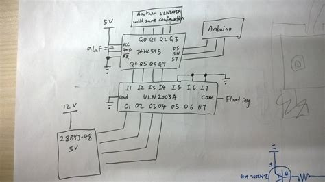 Uln2003 A arduino 74hc595 uln2003a not driving stepper motor electrical engineering stack exchange