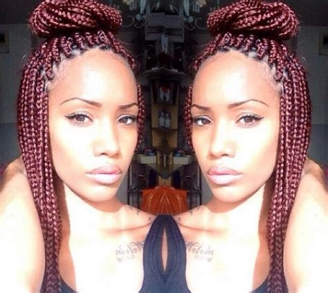 how many packs of hair for individuals 25 best ideas about burgundy box braids on pinterest