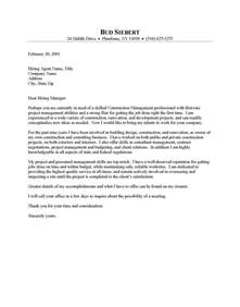 Construction Cover Letter Construction Supervisor Cover Letter Resume Cover Letter