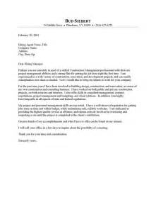 Construction Resume Cover Letter construction supervisor cover letter resume cover letter
