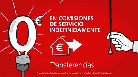 transferencia banco de espa a las comisiones del banco santander en espa 241 a