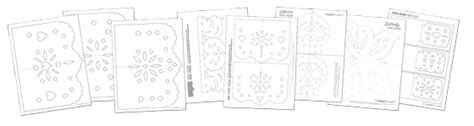 How To Make Papel Picado Day Of The Dead And Dia De Los Muertos Free Printable Papel Picado Template