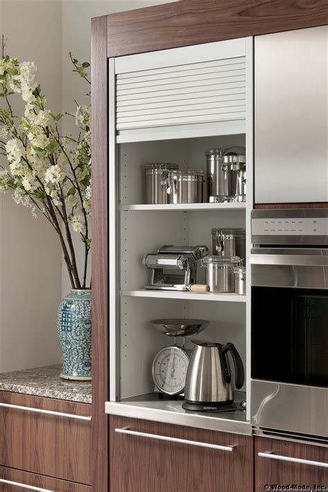 sleek appliance garage contemporary kitchen appliance garage in kitchen kitchen ideas pinterest