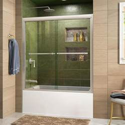 shop dreamline duet 59 in w x 58 in h frameless bathtub