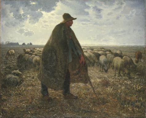 angelus paint netherlands shepherd tending his flock jean francois millet