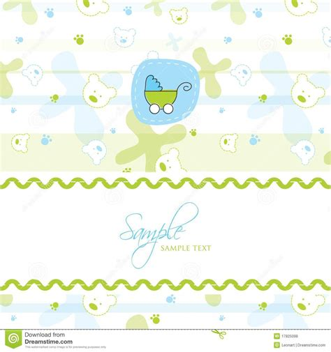 baby shower card template baby shower card template stock vector image of
