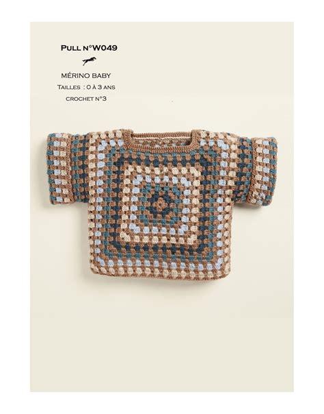 Modèles De Rideaux Au Crochet Gratuits by Mod 232 Le Pull Au Crochet W049 Patron Tricot Gratuit