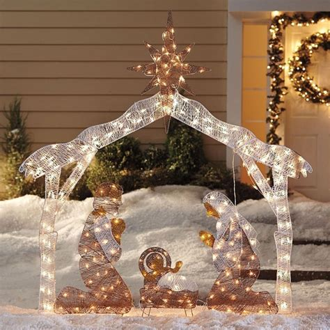 jesus outside christmas lights top 7 outdoor nativity sets absolute
